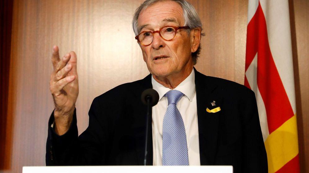 Foto: Xavier Trias, durante la comparecencia que ofreció este lunes en Barcelona. (EFE)