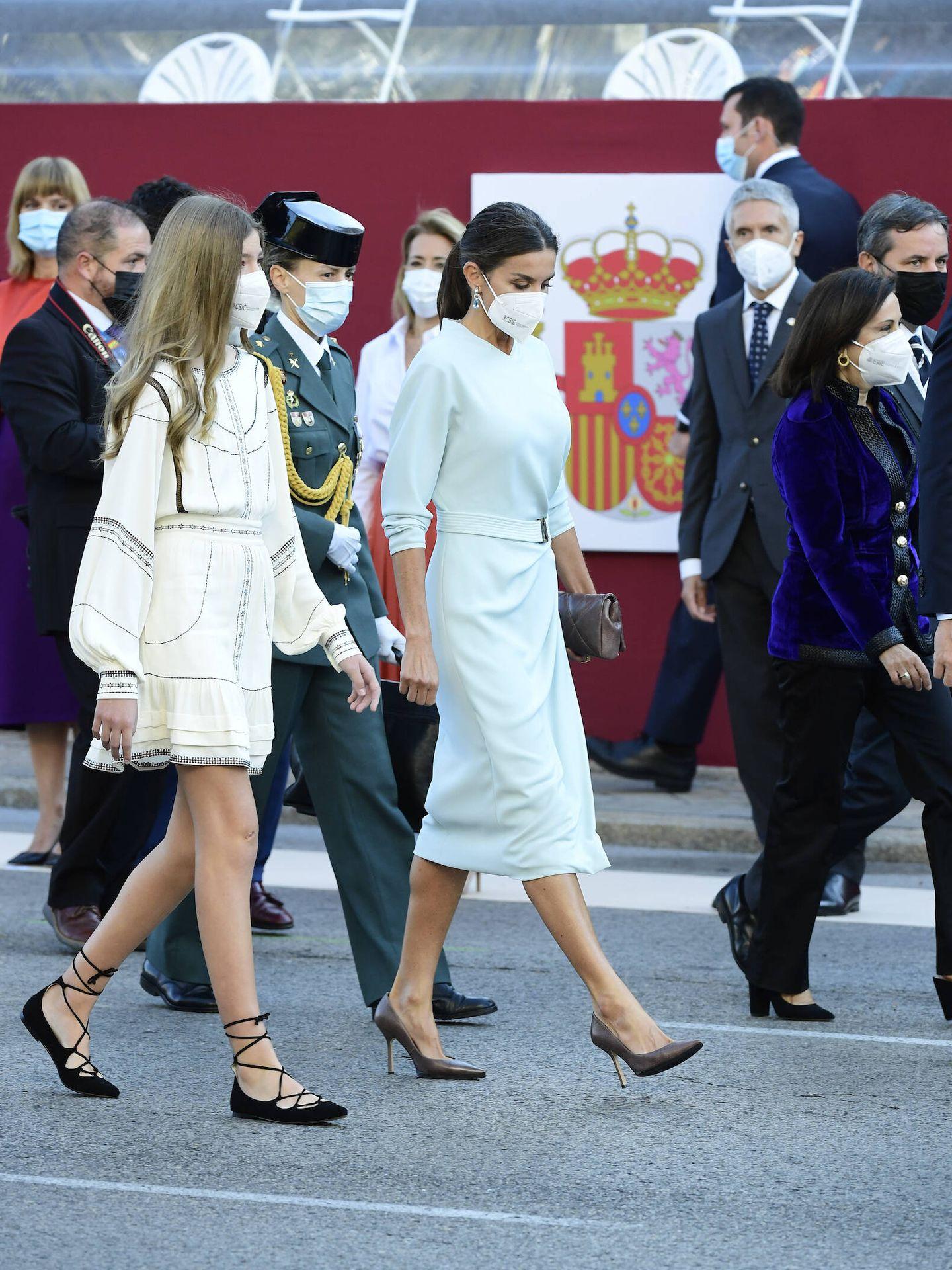La reina Letizia y la infanta Sofía. (Limited Pictures)