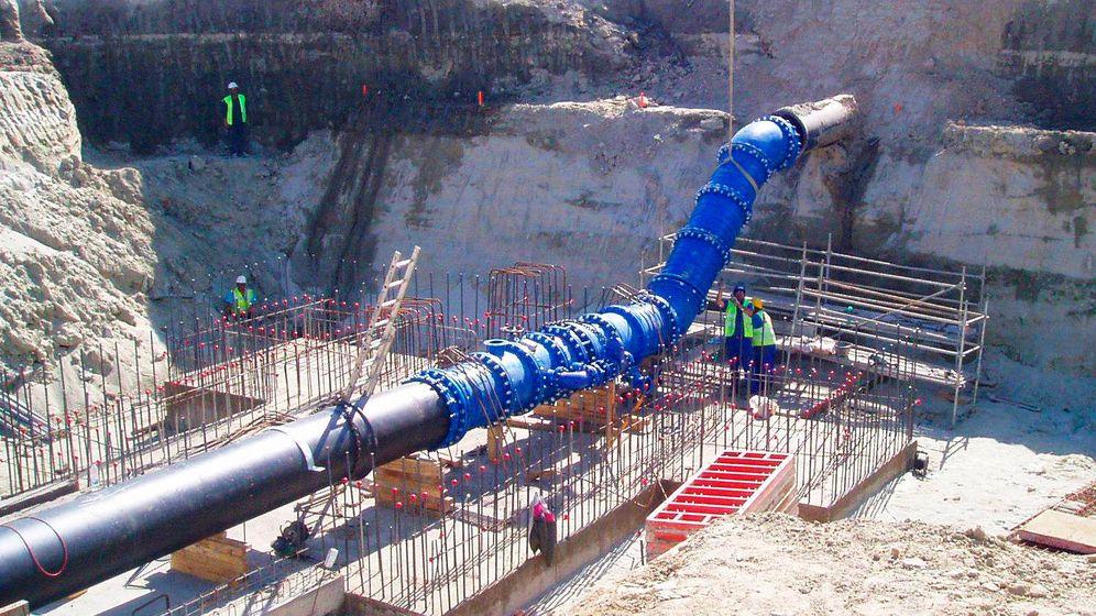 Foto: Una de las obras de renovación del Canal de Isabel II. (Foto: Canal)