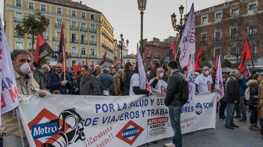 Foto: Protestas de los maquinistas de Metro