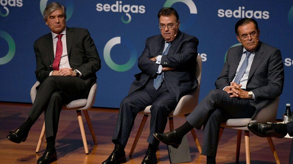 Foto: Reunión de Sedigas con el prisidente de Enagás y de Naturgy. (EFE)