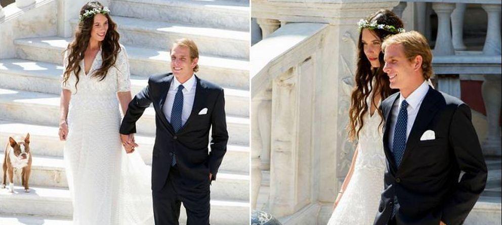 Foto: Andrea Casiraghi y Tatiana Casiraghi, en dos imágenes facilitadas por la Casa Real monegasca
