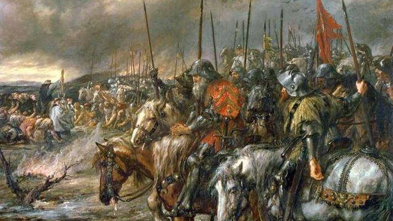 'La mañana de la batalla de Agincourt', por John Gilbert.