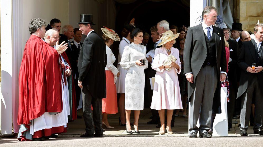 Foto: Letizia y Camilla, durante el Día de la Orden de la Jarretera. (EFE)
