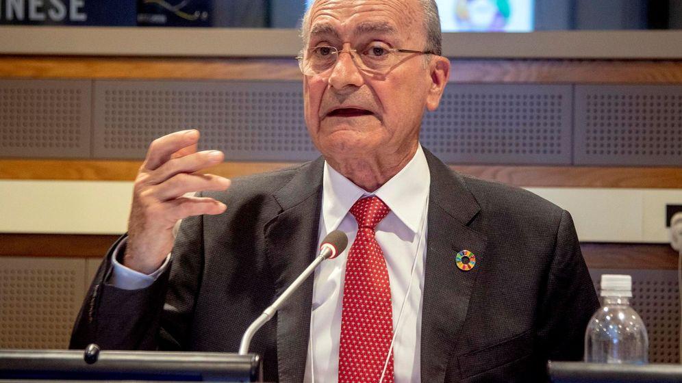 Foto: El alcalde de Málaga, Francisco de la Torre, en una intervención en Nueva York en julio de 2018. (EFE)