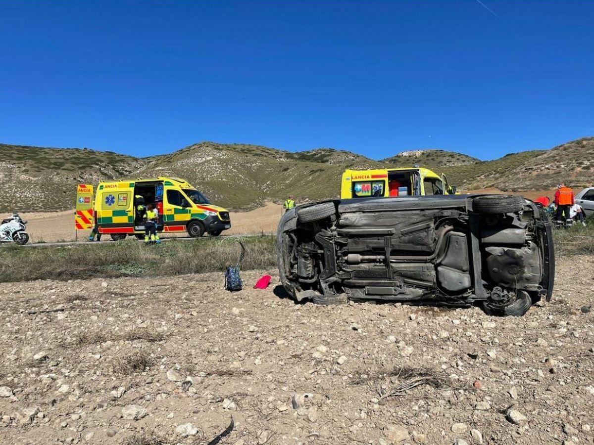 Foto: Imagen del accidente. Foto: 112 Comunidad de Madrid