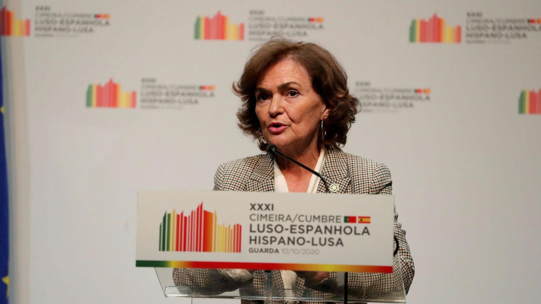 La vicepresidenta primera del Gobierno, Carmen Calvo. (EFE)