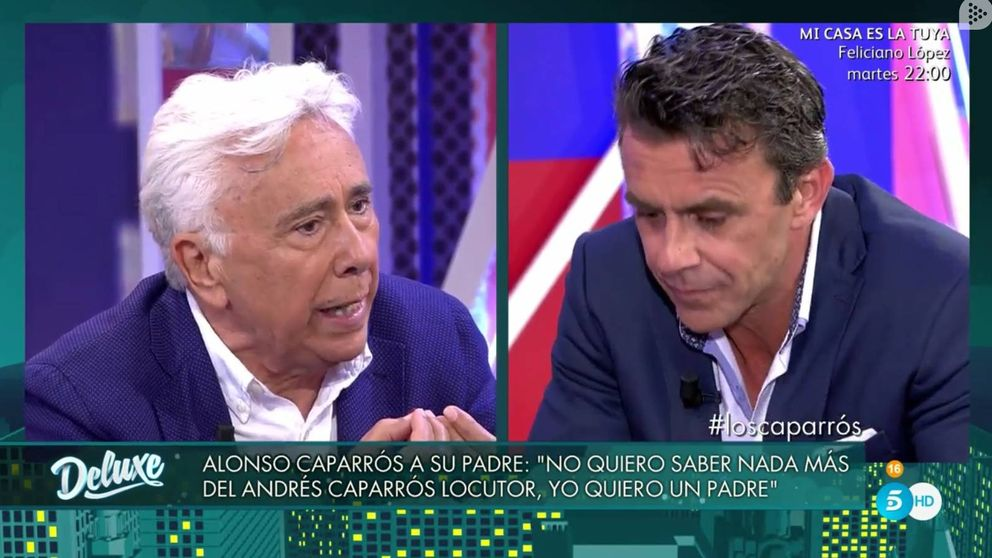 Alonso Caparrós pierde los papeles tras montar una encerrona a su padre