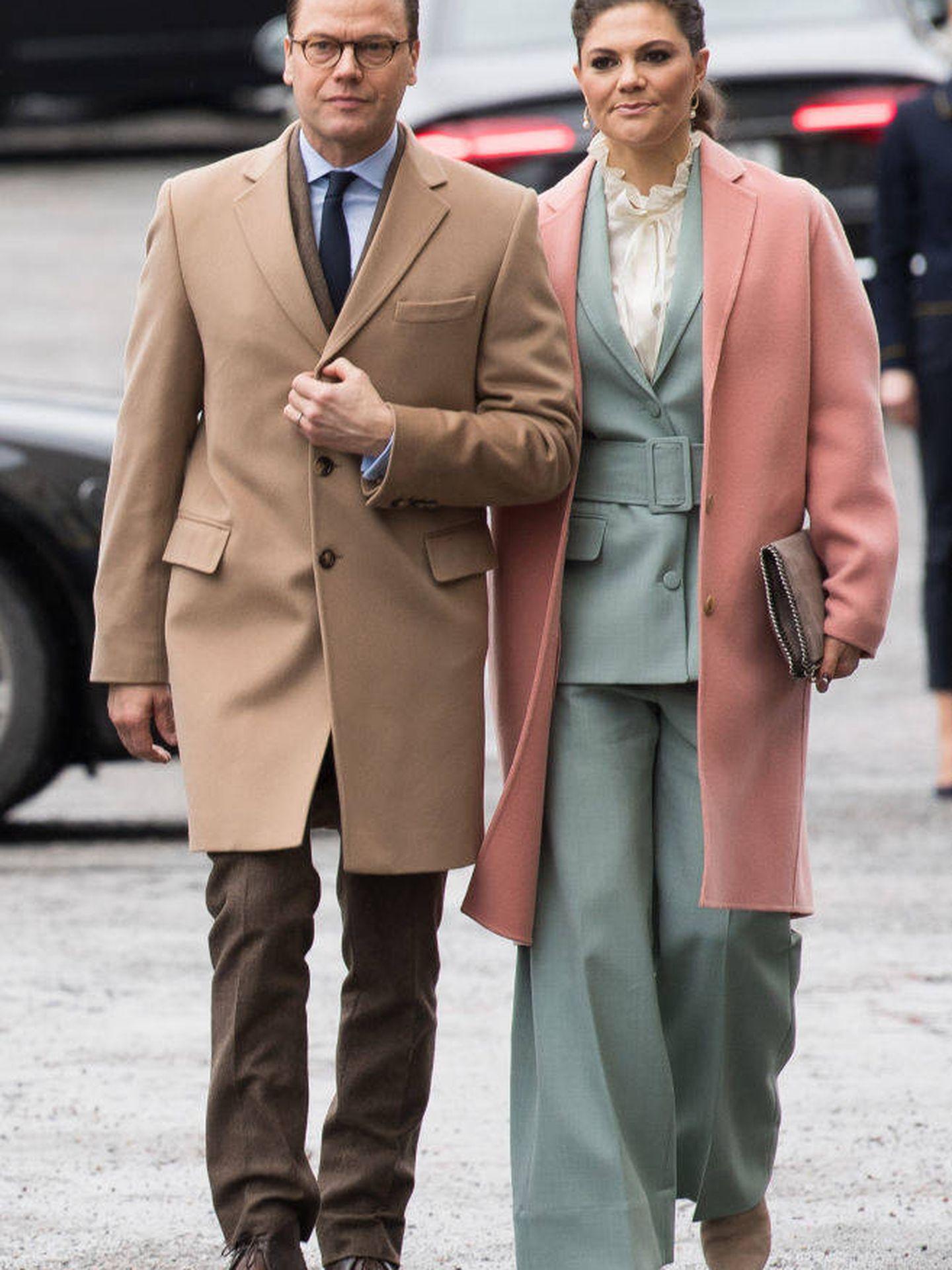 Victoria y Daniel de Suecia. (Getty)
