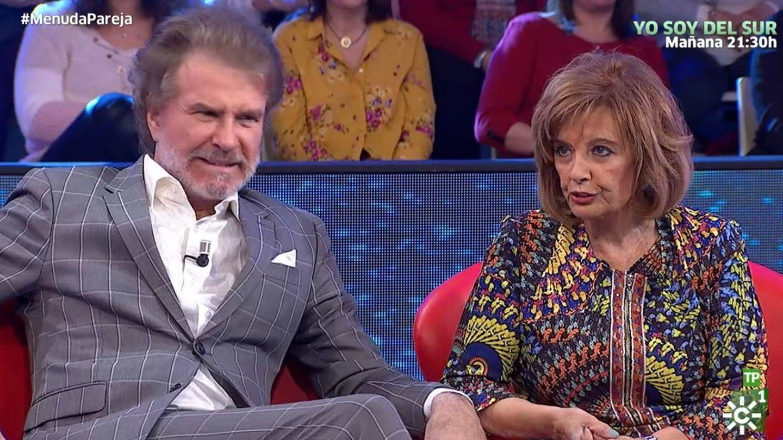 Bigote Arrocet y María Teresa Campos, en un programa de Canal Sur. (RTVA)
