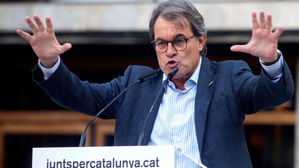 Foto: Artur Mas en un acto electoral de JxCat. (EFE)