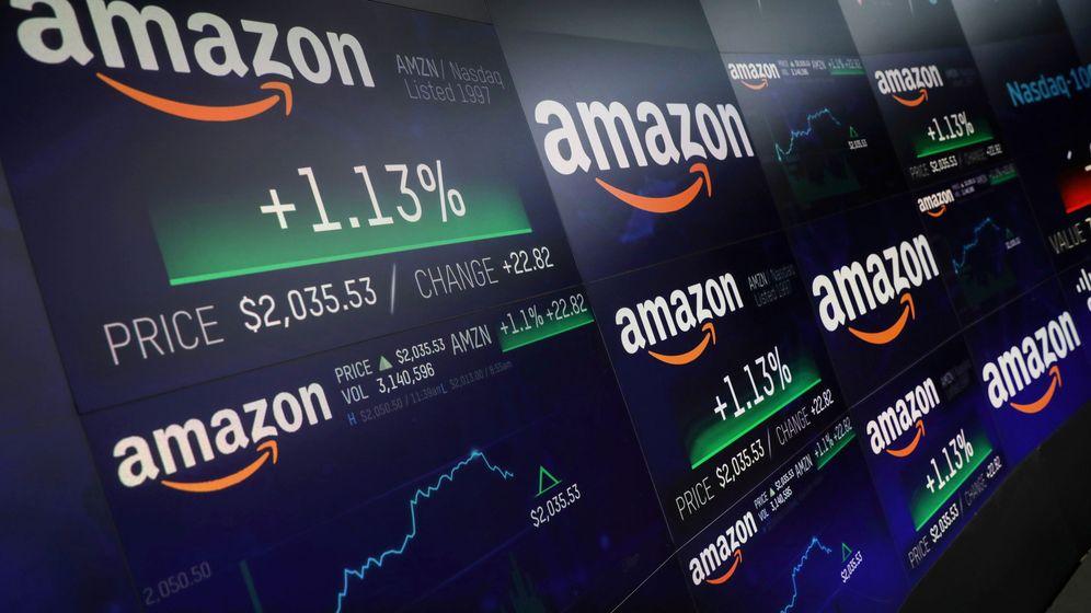 Foto: Cotización de Amazon en el Nasdaq.