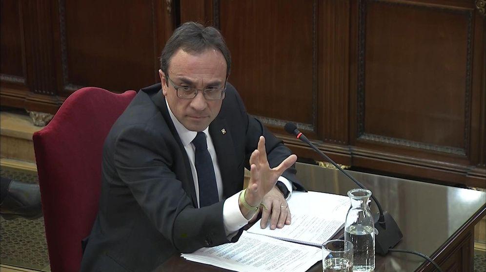 Foto: El 'exconseller' Josep Rull, durante su declaración.