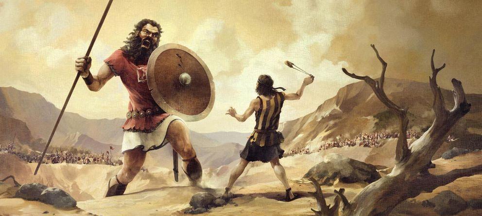 Foto: David parece tener todas las de perder en su lucha contra Goliat... ¿o no?