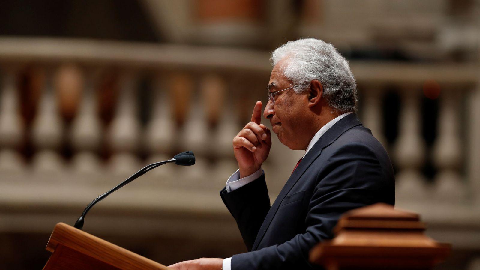 Foto: El primer ministro portugués, António Costa, habla durante el debate parlamentario sobre los presupuestos en Lisboa, el 29 de noviembre de 2018. (Reuters)