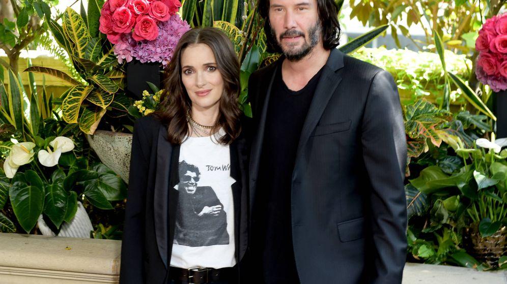 Foto:  Winona y Keanu, en la promoción de su nueva película juntos. (Getty)