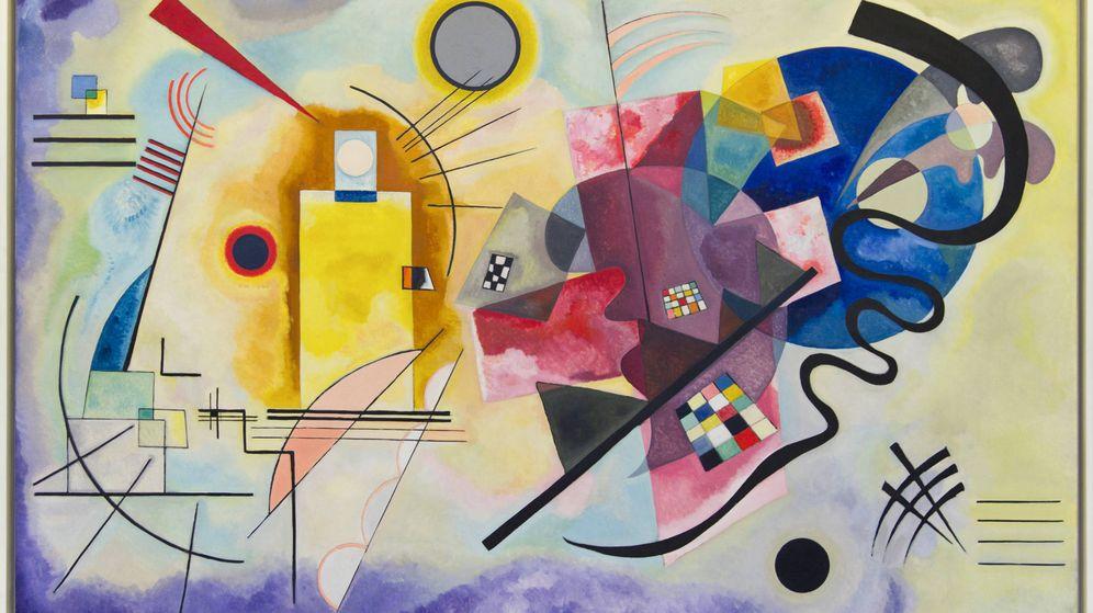 Foto: 'Yellow-Red-Blue' de Wassily Kandinsky.