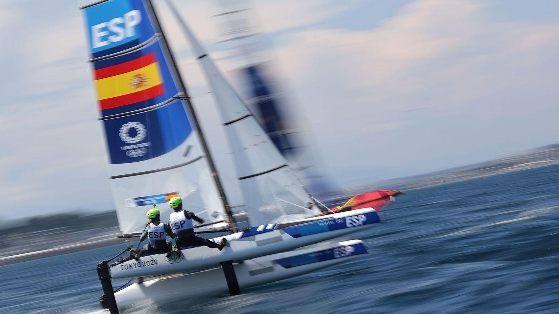 Tara Pacheco y Florian Trittel en acción. (Reuters)