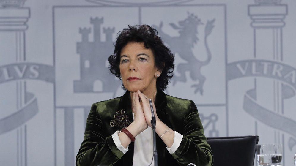 Foto: La ministra portavoz, Isabel Celaá. (EFE)