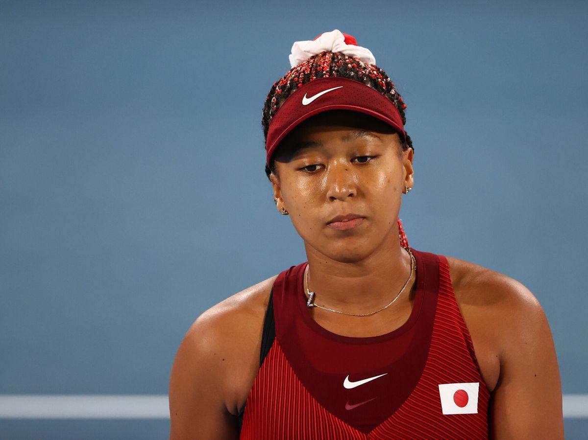 Foto: Naomi Osaka se lamenta durante el partido. (Reuters)
