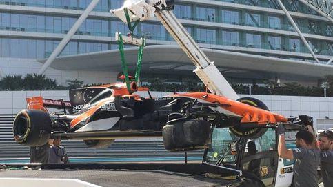 Alonso se despide de Honda a lo 'grande': con un accidente en los test de Abu Dabi