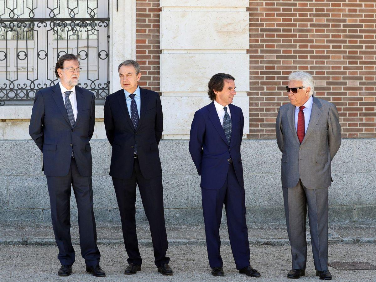 Foto: Los cuatro expresidentes, en una imagen de archivo. (EFE)