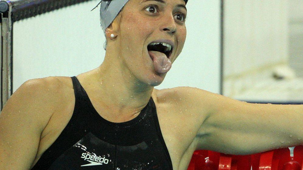 Foto: La nadadora María Peláez, en su participación en los Juegos Olímpicos de Pekín. Intervendrá en el curso  (Efe).