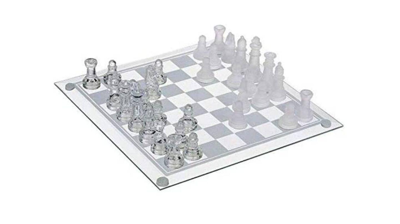 Juego de ajedrez con tablero de cristal ADS TECHNOLOGIES