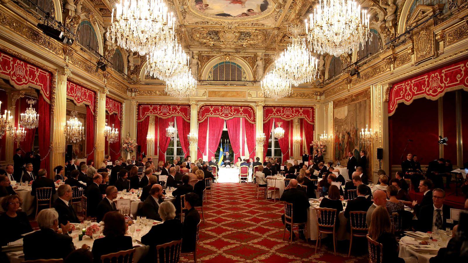 Foto: El presidente François Hollande, en una cena en honor a los reyes de Suecia (Gtres)