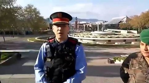 Aplauso de Mossos, bomberos y militares a los ciudadanos que respetan la cuarentena