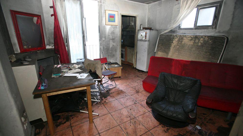 Foto: Así quedó la vivienda de Rosa tras el incendio. (EFE)