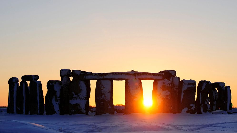 Foto: El sol se pone en Stonehenge. (Reuters)