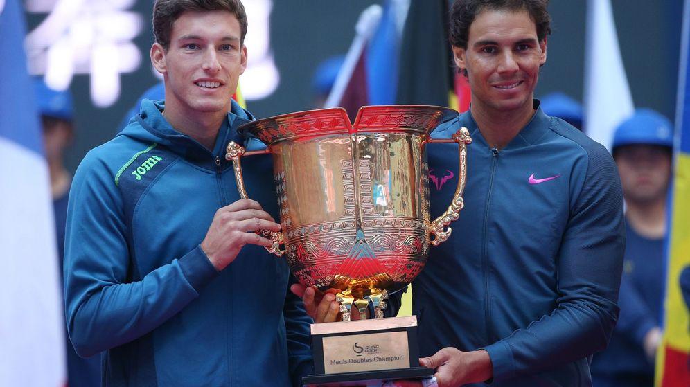 Foto: Carreño y Nadal ganaron este domingo el China Open en dobles (Wu Hong/EFE-EPA)