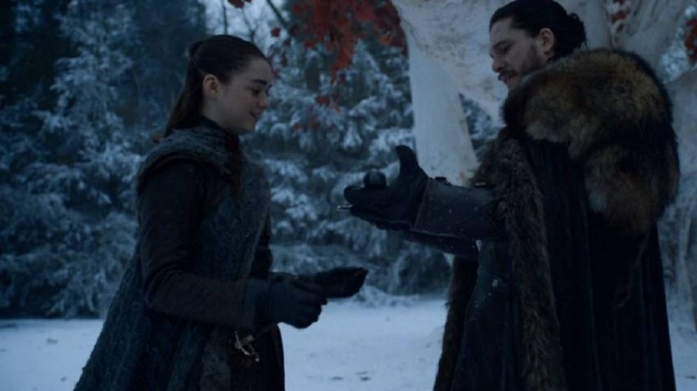 Foto: Reencuentro entre Arya Stark y Jon Snow. (HBO)