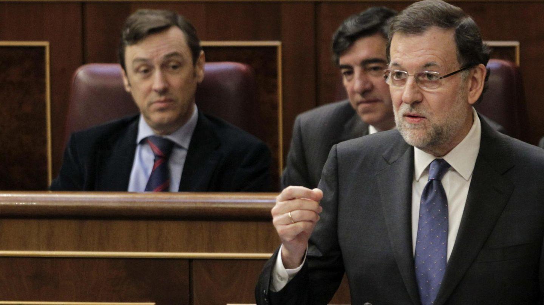 Mariano Rajoy durante la sesión de control (Efe)