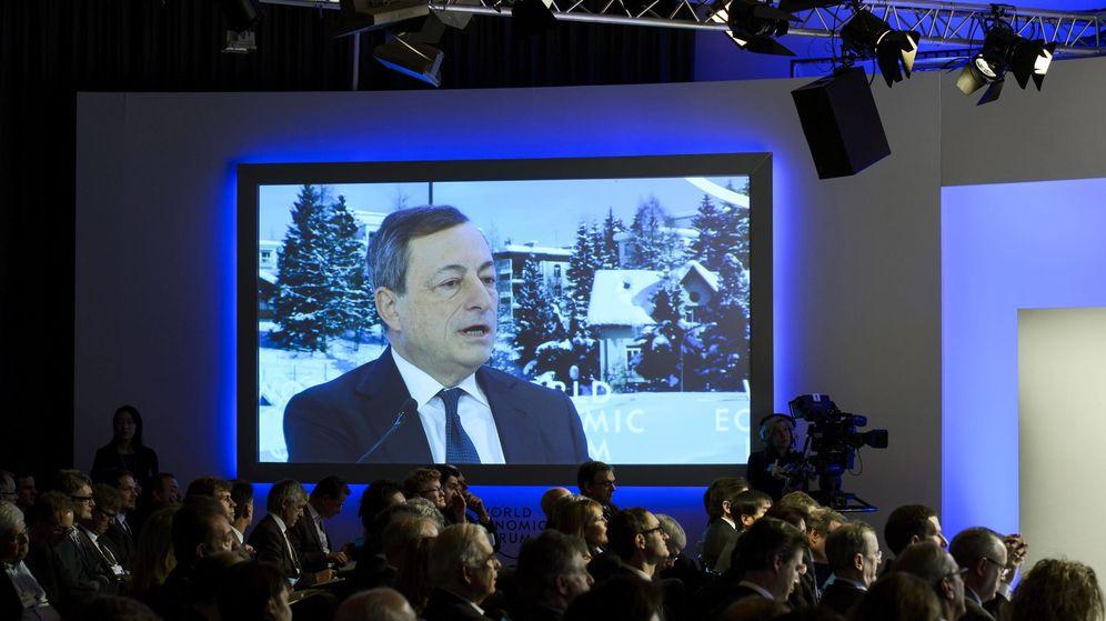 Foto: El presidente del BCE, Mario Draghi, en Davos. (EFE)
