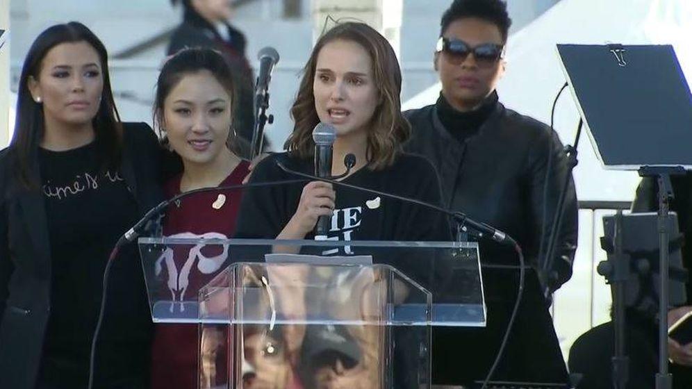 Foto: Natalie Portman dio su discurso durante la segunda Marcha de las Mujeres en EEUU