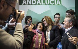 Susana Díaz se apropia del discurso de IU: y abraza la banca pública