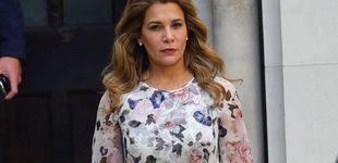 Post de Haya de Jordania, a 'lookazo' diario en la pasarela del Alto Tribunal de Londres