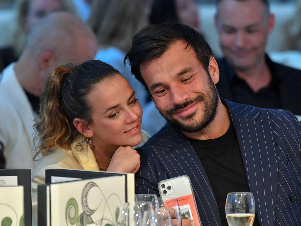 Foto: Pauline Ducruet, con su novio. (CP)