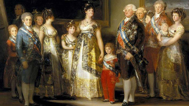 Francisco de Paula, antepasado de Olivia, de la mano de su madre, Maria Luisa de Parma. ('Retrato de la familia de Carlos IV', Goya)
