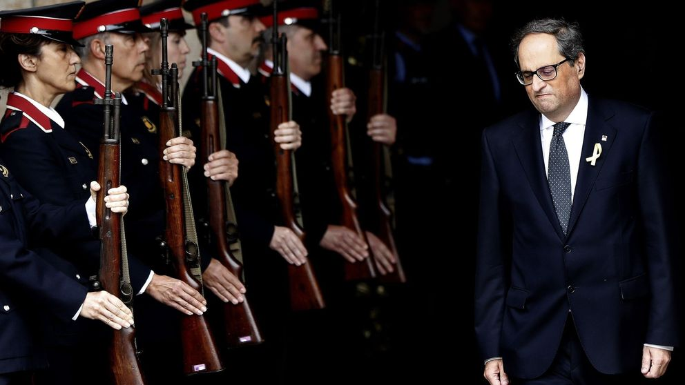 Torra, un 'president' entre la sombra de Puigdemont y la de Miss Havisham