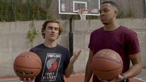 Así imita Griezmann las celebraciones de estrellas de la NBA