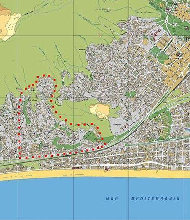 La urbanización de Bellamar entre líneas rojas.