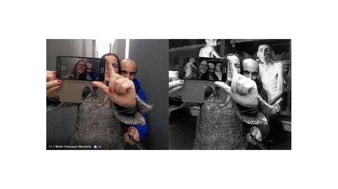 Yolocaust, así ridiculiza un artista a los turistas que se 'burlan' del Holocausto
