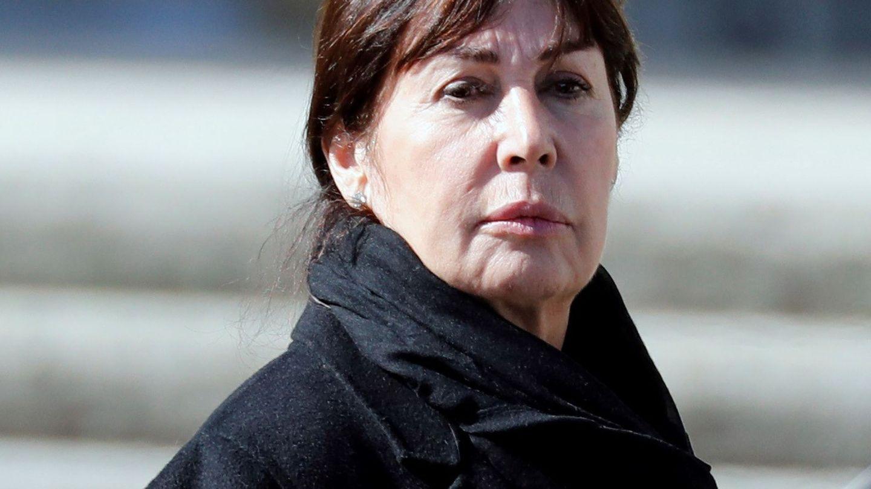 Carmen Martínez-Bordiú, tras la exhumación de Franco. (EFE)