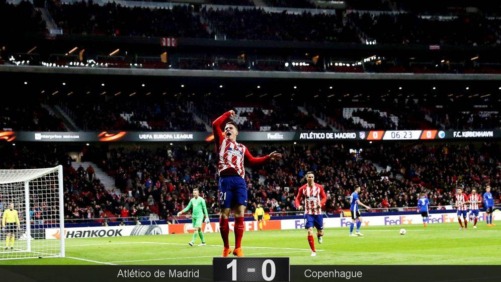 Foto: Gameiro celebra su gol. (EFE)