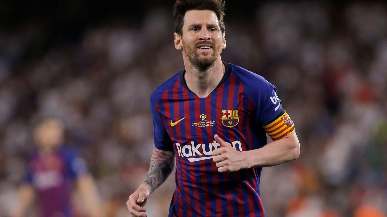 Messi durante el partido contra el Valencia. (EFE)