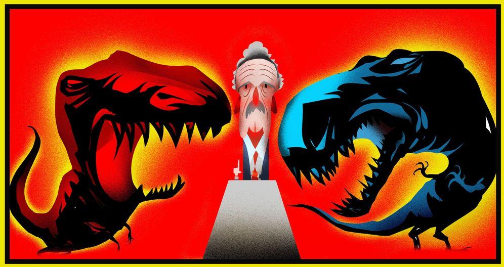 Foto: Ilustración del debate entre Mariano Rajoy y Pedro Sánchez (Raúl Arias)