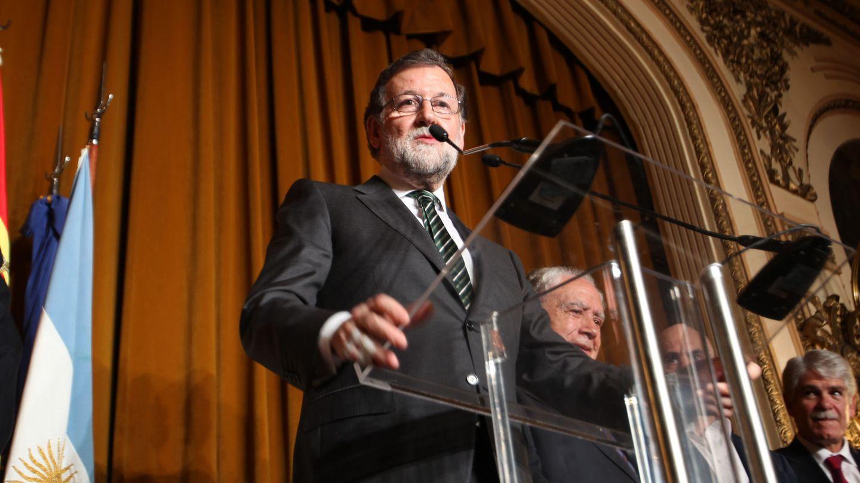 El presidente del Gobierno español, Mariano Rajoy, en su visita oficial a Argentina.